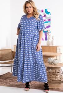 Sukienka KARKO maxi z długim rękawem oversize