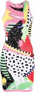 Sukienka Balmain w stylu casual bez rękawów z żakardu