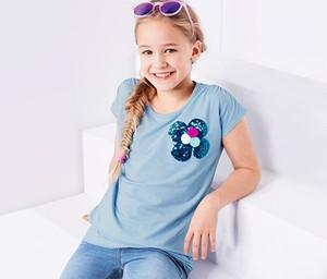 Niebieska koszulka dziecięca Tchibo z bawełny