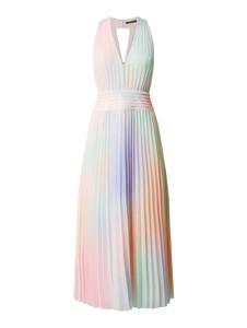 Sukienka Guess bez rękawów z dekoltem w kształcie litery v z szyfonu