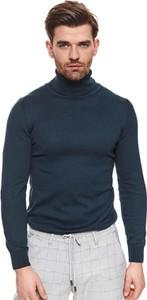 Sweter Top Secret z dzianiny z golfem