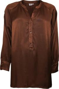 Brązowa bluzka 2-biz z długim rękawem