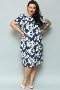 Sukienka KARKO ołówkowa z okrągłym dekoltem
