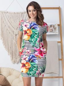 Sukienka Grandio z dresówki mini z krótkim rękawem