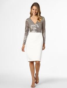 Sukienka Ralph Lauren z dekoltem w kształcie litery v prosta z długim rękawem