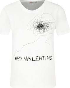 T-shirt Red Valentino z okrągłym dekoltem z krótkim rękawem