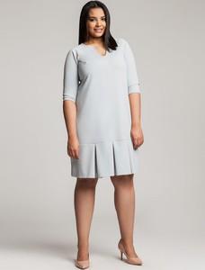 Sukienka By 20inlove dla puszystych z długim rękawem