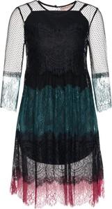 Czarna sukienka Twinset rozkloszowana