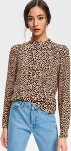 Brązowa bluzka Reserved z długim rękawem