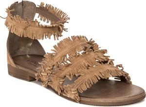 Sandały Venezia z płaską podeszwą ze skóry na zamek