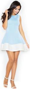Sukienka Figl bez rękawów mini z okrągłym dekoltem