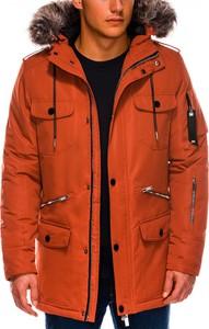 Pomarańczowa kurtka Ombre_Premium w stylu casual