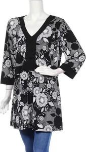 Czarna bluzka M.I.M z dekoltem w kształcie litery v z długim rękawem w stylu casual