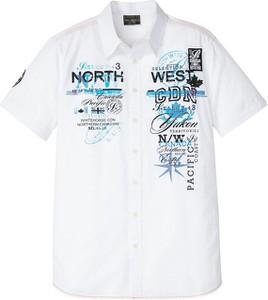 Koszula bonprix z krótkim rękawem z nadrukiem z bawełny