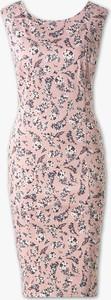 Sukienka YESSICA ołówkowa midi z okrągłym dekoltem