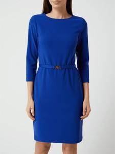 Niebieska sukienka Ralph Lauren mini prosta z długim rękawem