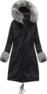 Czarna kurtka Made in Italy w stylu casual długa
