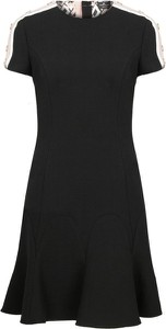 Sukienka Elisabetta Franchi mini z wełny z krótkim rękawem
