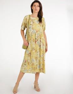 Sukienka Unisono w stylu casual z tkaniny z krótkim rękawem