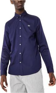 Niebieska koszula Lacoste z długim rękawem
