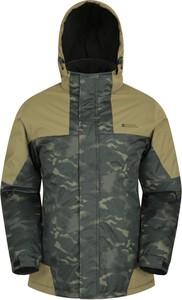 Zielona kurtka Mountain Warehouse krótka w sportowym stylu