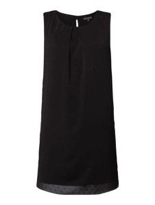 Czarna sukienka Tom Tailor midi rozkloszowana z szyfonu