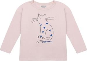Różowa bluzka dziecięca Bobo Choses z długim rękawem