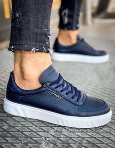 Dstreet.pl Sneakersy męskie niebieskie ZX0146