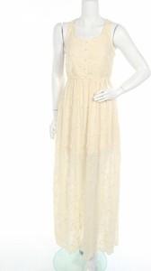 Sukienka Lily Mcbee z okrągłym dekoltem maxi