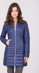 Niebieski płaszcz QUIOSQUE w stylu casual