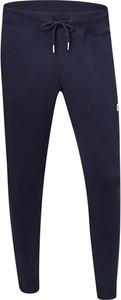 Granatowe spodnie New Balance w sportowym stylu z bawełny