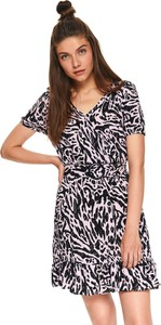 Sukienka Top Secret z tkaniny rozkloszowana w stylu casual