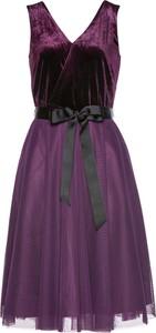 Sukienka bonprix bpc selection premium mini bez rękawów z dekoltem w kształcie litery v