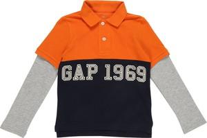 Pomarańczowa koszulka dziecięca Gap