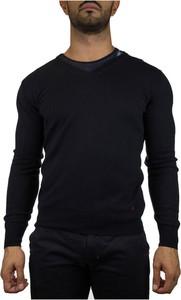 Czarny sweter Peuterey w stylu casual z okrągłym dekoltem