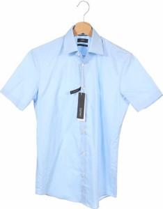 Niebieska koszula Esprit w stylu casual z klasycznym kołnierzykiem z krótkim rękawem