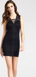 Sukienka Guess mini gorsetowa bez rękawów