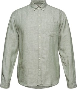 Koszula Esprit z bawełny z długim rękawem z kołnierzykiem button down