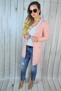 Różowy sweter hitdnia.com.pl w stylu casual