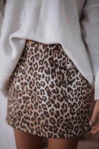Brązowa spódnica Rose Boutique w młodzieżowym stylu