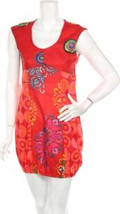 Sukienka Ethnic z okrągłym dekoltem mini