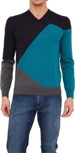 Niebieski sweter Armani Exchange w stylu casual