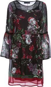 Sukienka bonprix BODYFLIRT mini z długim rękawem z okrągłym dekoltem