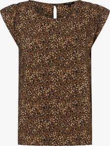Brązowa bluzka Opus z krótkim rękawem