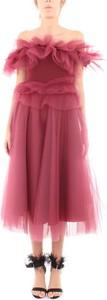 Sukienka Imperial z krótkim rękawem z tiulu