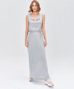 Sukienka FEMESTAGE Eva Minge z dekoltem w kształcie litery v maxi