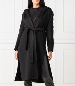 Czarny płaszcz Max & Co. z kaszmiru w stylu casual