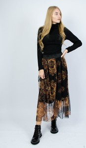 Spódnica Olika z tiulu midi z nadrukiem