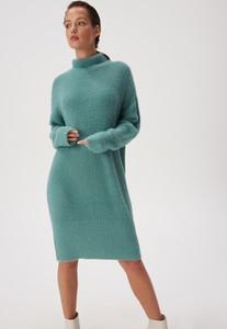 Sukienka Sinsay z długim rękawem w stylu casual z golfem