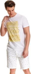 T-shirt Top Secret z nadrukiem z bawełny z krótkim rękawem